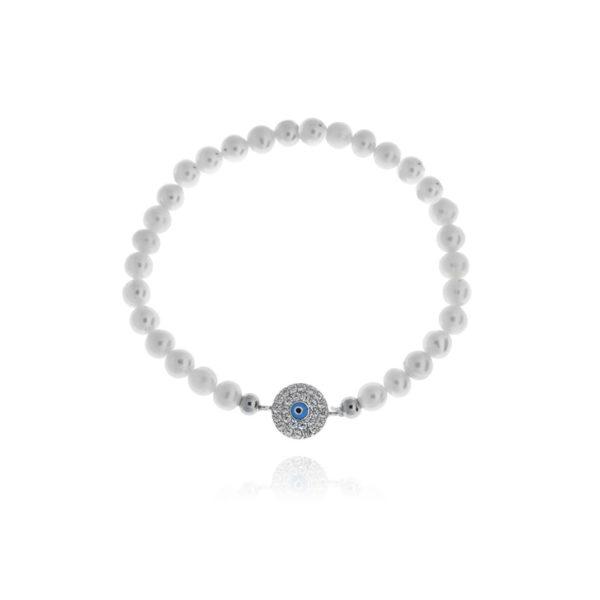 Pulsera de perlas con detalle