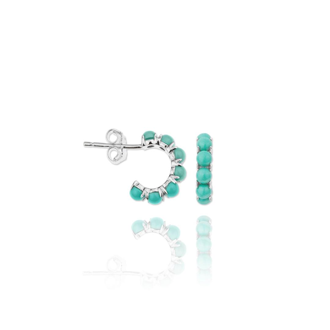 Pendiente verdes esmeralda