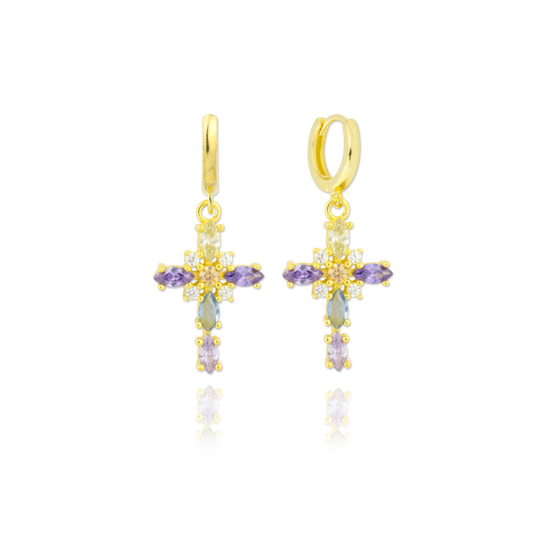 cross 2 earings