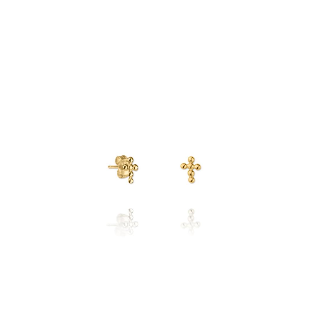 cruces doradas pendiente