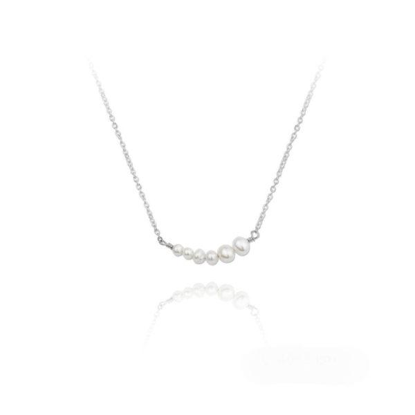 gargantilla de plata con perlas
